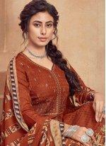 Embroidered Pashmina Designer Suit