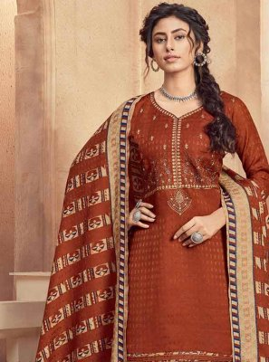 Embroidered Pashmina Designer Suit