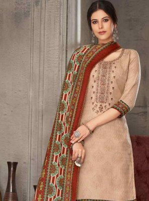 Embroidered Pashmina Multi Colour Palazzo Suit