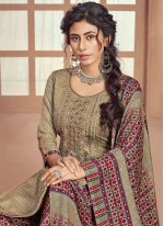 Embroidered Pashmina Multi Colour Trendy Patiala Suit