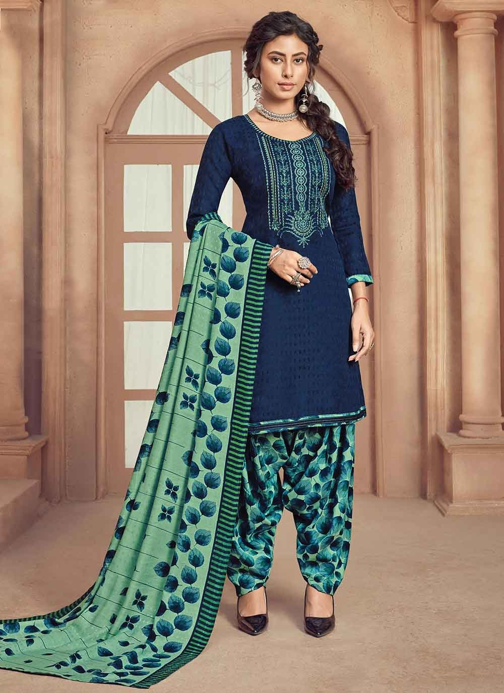 Embroidered Pashmina Trendy Patila Salwar Suit