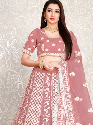 Embroidered Peach Lehenga Choli