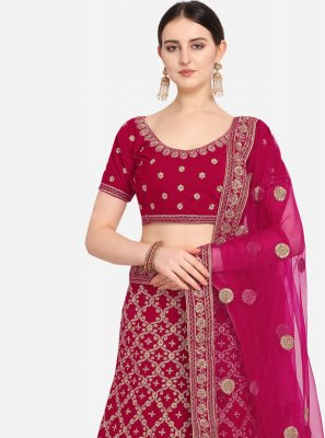 Embroidered Pink Lehenga Choli