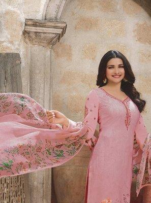 Embroidered Pink Prachi Desai Churidar Designer Suit