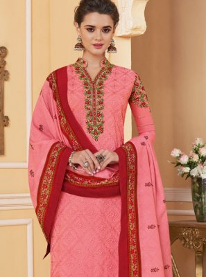 Embroidered Pink Salwar Kameez