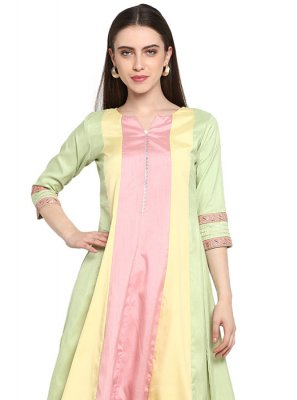 Embroidered Poly Silk Designer Kurti