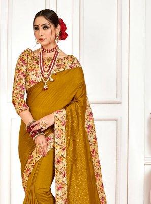 Embroidered Poly Silk Designer Saree