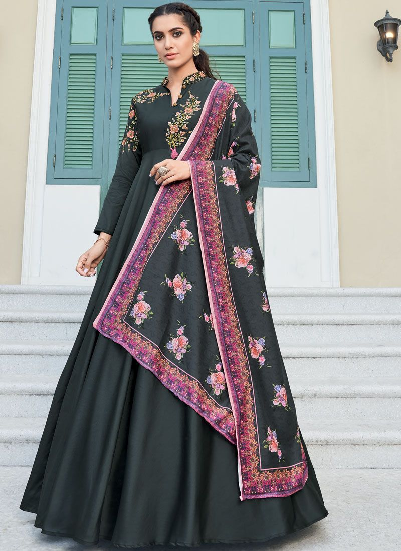Embroidered Readymade Designer Gown