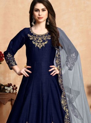 Embroidered Reception Anarkali Salwar Suit