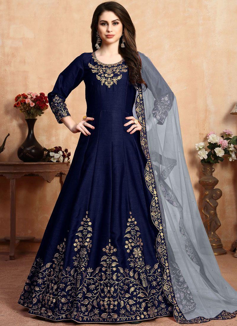 Embroidered Reception Anarkali Salwar Suit