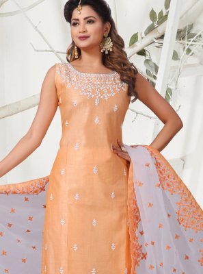 Embroidered Reception Churidar Suit