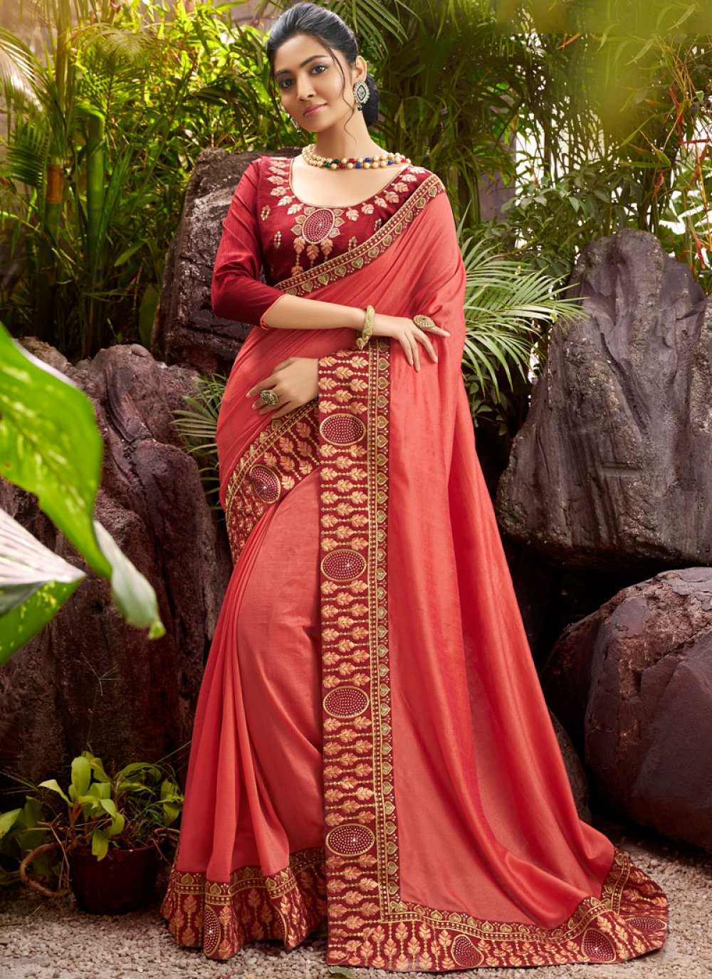 Embroidered Reception Designer Saree