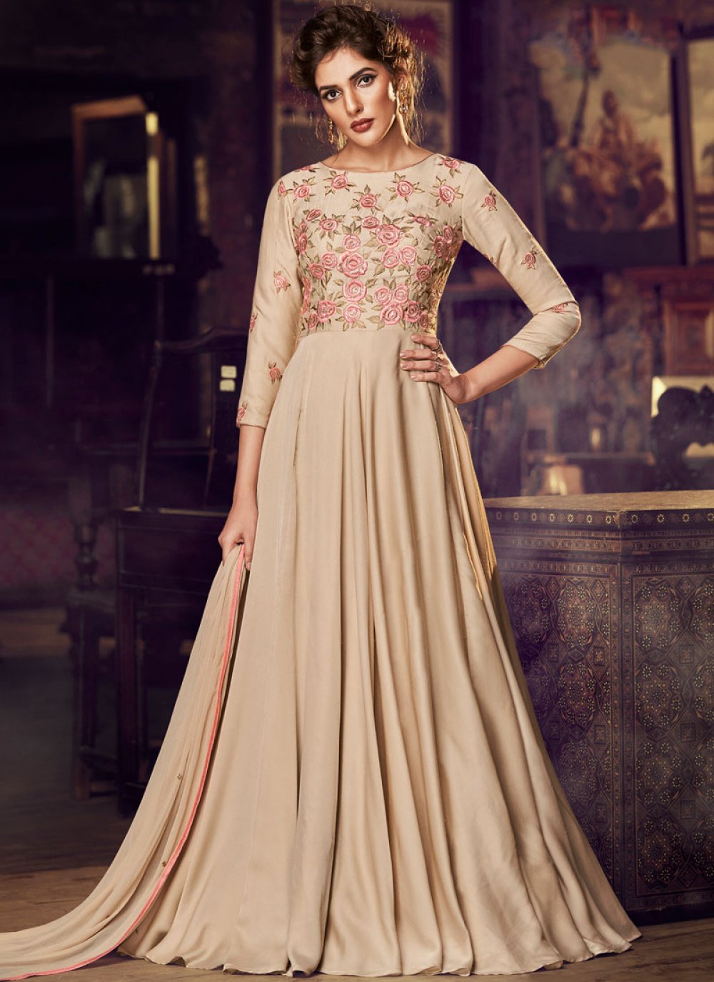 Embroidered Sangeet Designer Gown