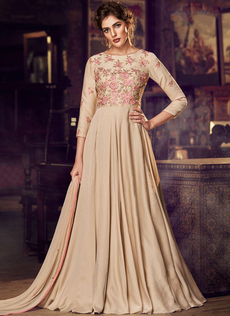 Embroidered Sangeet Designer Gown