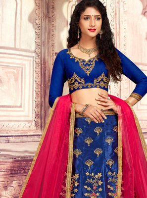 Embroidered Satin Silk Designer Lehenga Choli