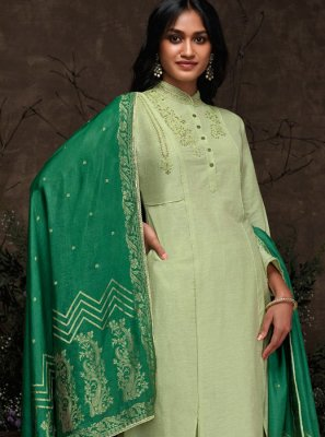 Embroidered Sea Green Pakistani Suit