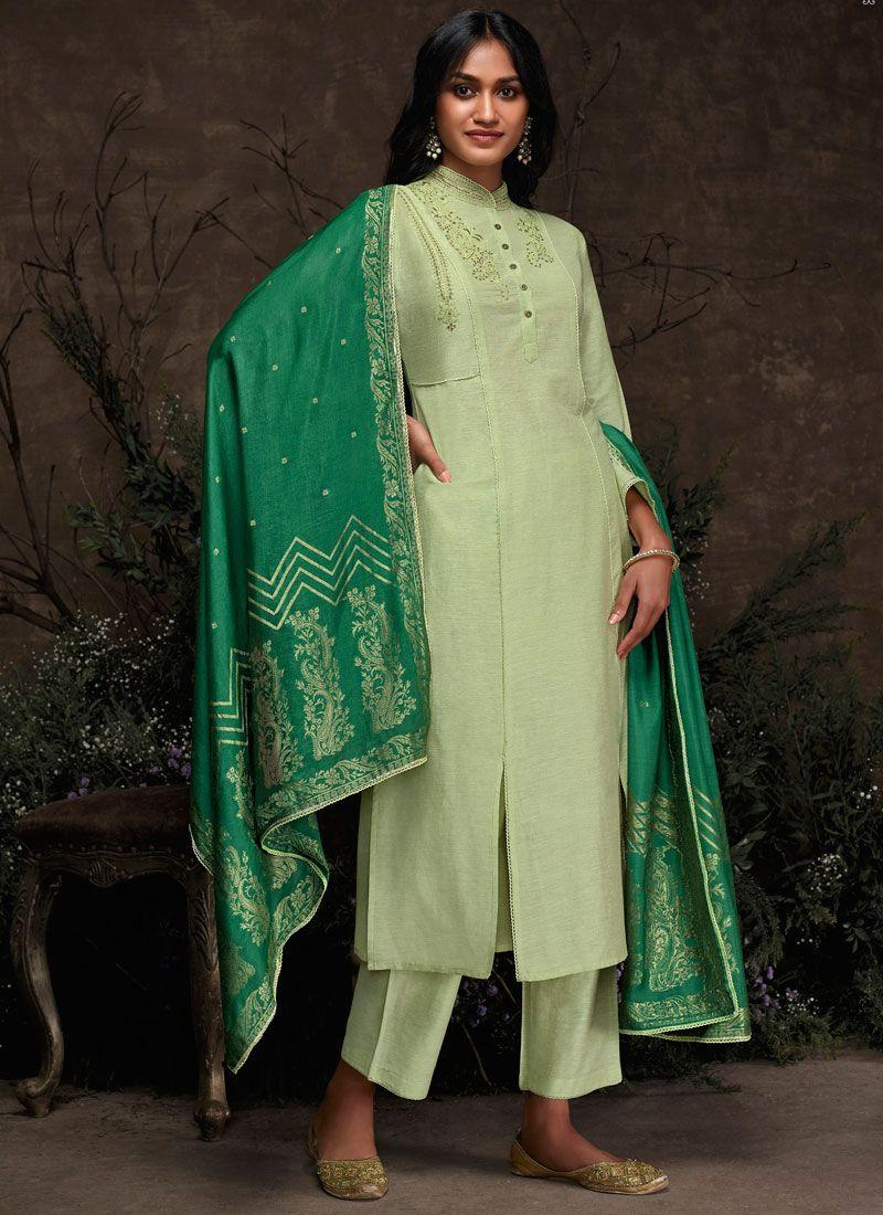 Embroidered Sea Green Pakistani Suit