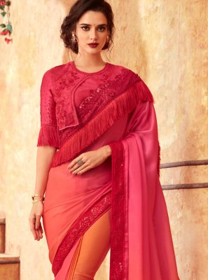 Embroidered Shaded Saree