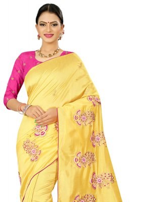 Embroidered Silk Classic Designer Saree