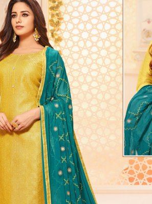 Embroidered Silk Designer Salwar Kameez