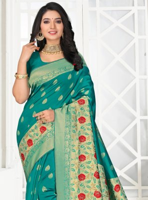 Embroidered Silk Designer Saree