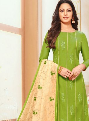 Embroidered Silk Designer Suit