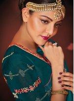 Embroidered Silk Green Classic Saree