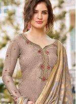 Embroidered Silk Salwar Suit