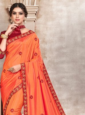 Embroidered Silk Saree