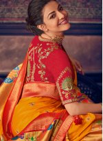 Embroidered Silk Traditional Designer Saree