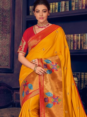 Embroidered Silk Traditional Designer Saree