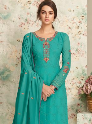 Embroidered Straight Pakistani Salwar Suit