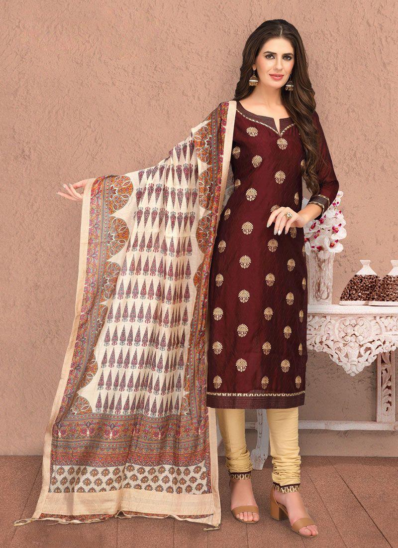 Embroidered Trendy Churidar Salwar Kameez