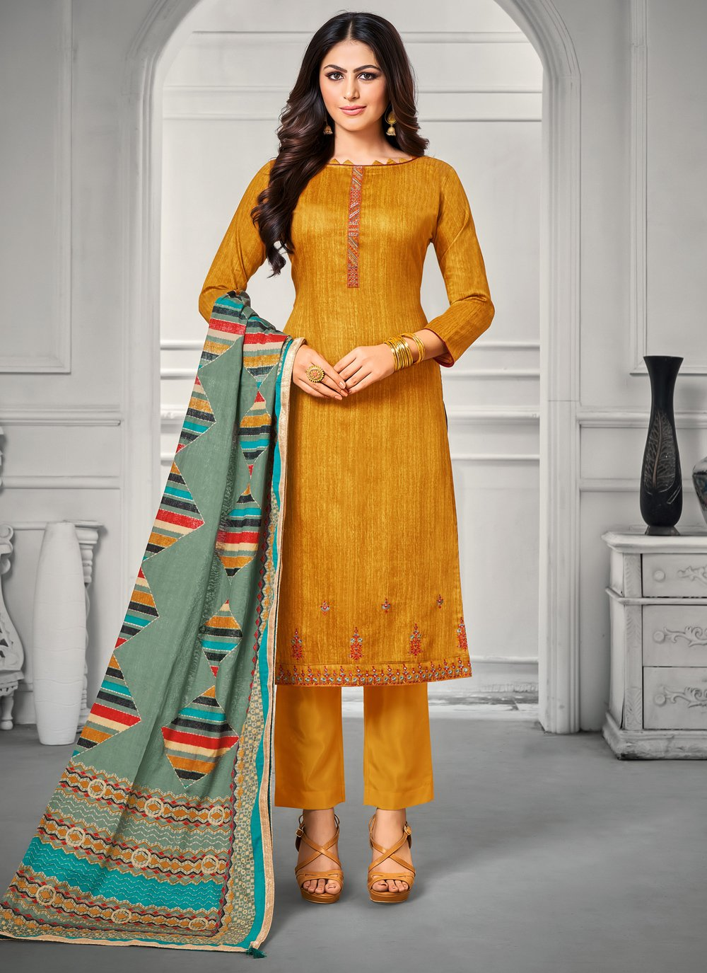 Embroidered Trendy Salwar Suit