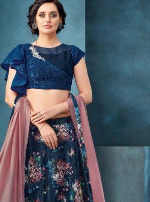 Embroidered Velvet Trendy A Line Lehenga Choli