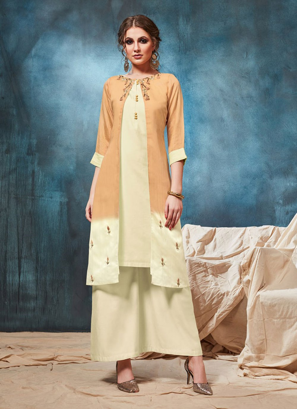 Embroidered Viscose Party Wear Kurti