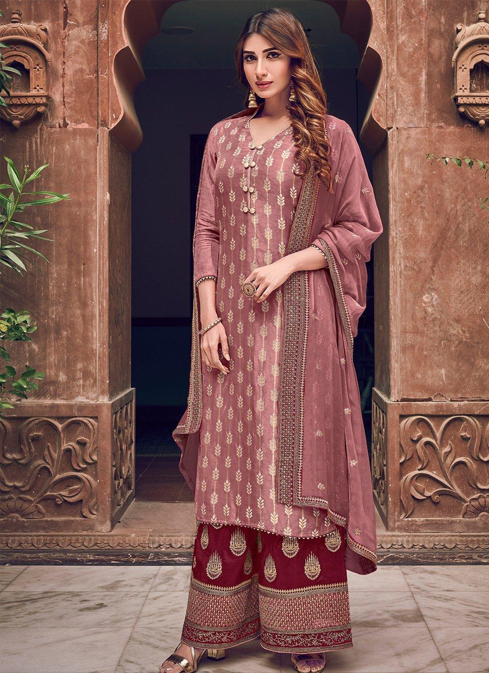 Embroidered Wedding Designer Straight Salwar Suit