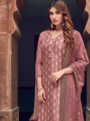 Embroidered Wedding Designer Straight Salwar Suit