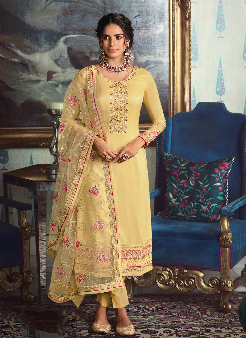 Embroidered Wedding Salwar Suit