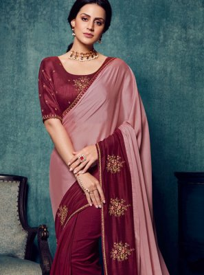 Embroidered Wedding Traditional Saree