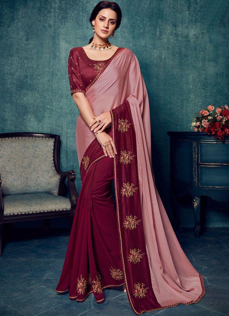 Embroidered Wedding Traditional Saree