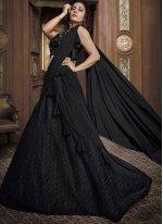 Fancy Fabric Black Designer Lehenga Choli