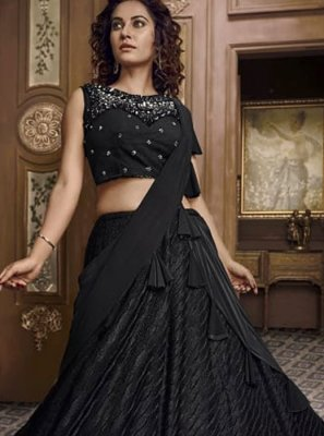 Fancy Fabric Black Designer Lehenga Choli