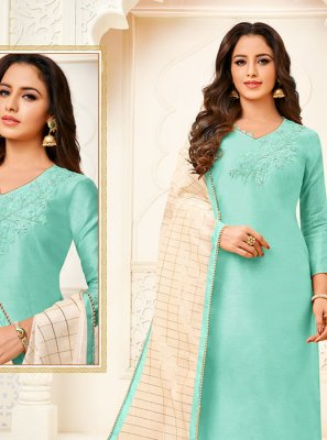 Fancy Fabric Ceremonial Churidar Designer Suit