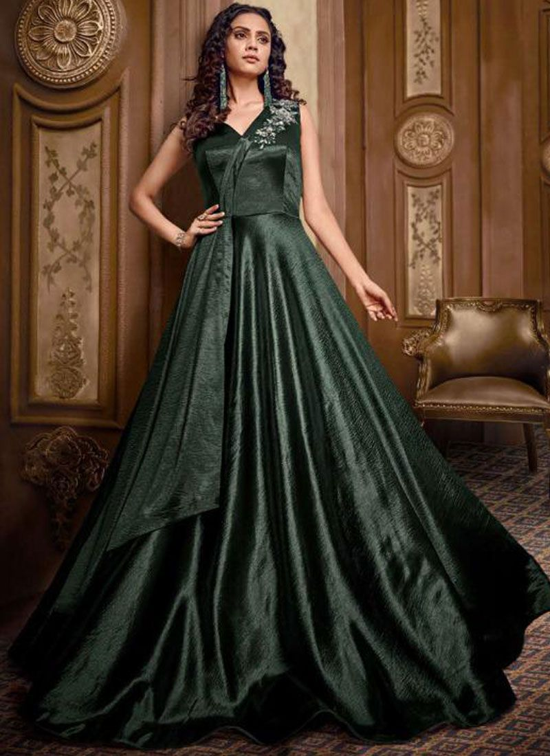 Fancy Fabric Designer Gown