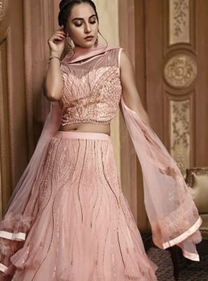 Fancy Fabric Designer Lehenga Choli in Pink
