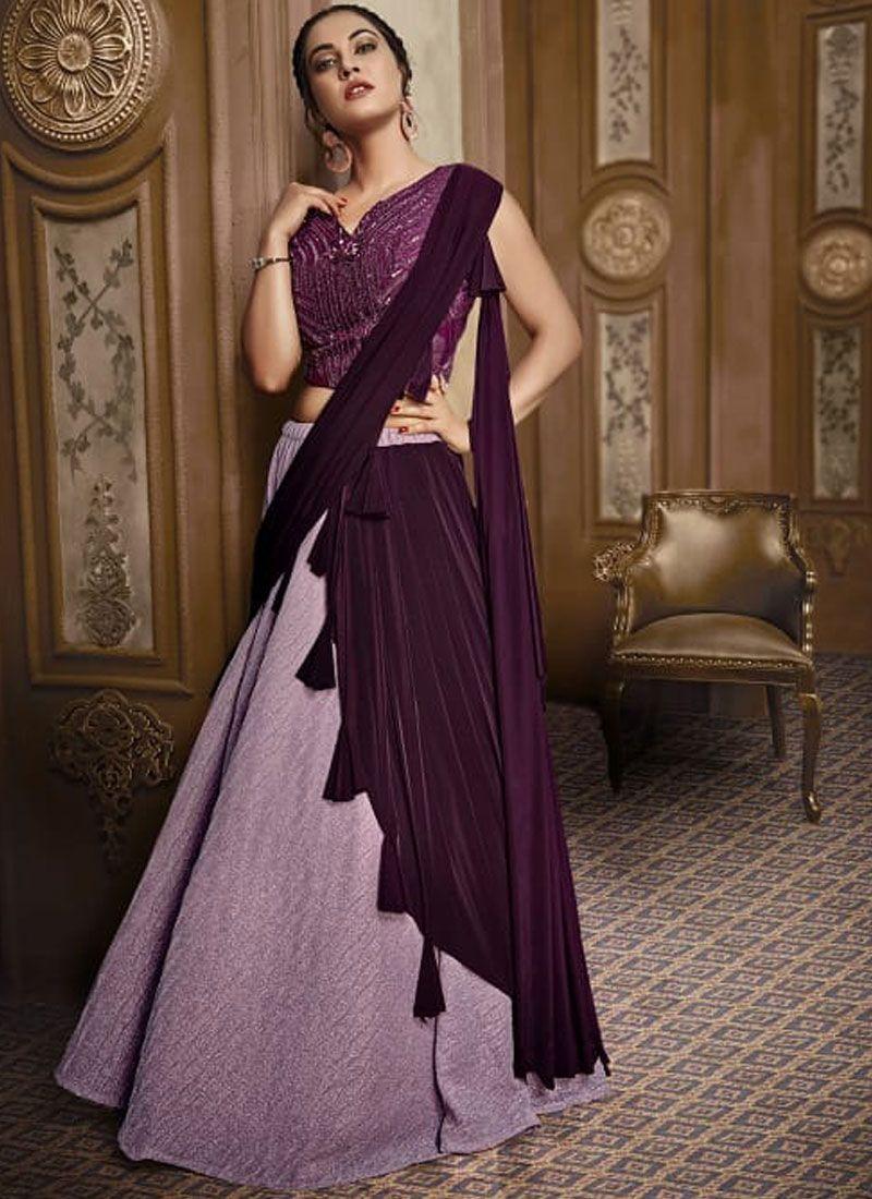 Fancy Fabric Designer Lehenga Choli in Pink