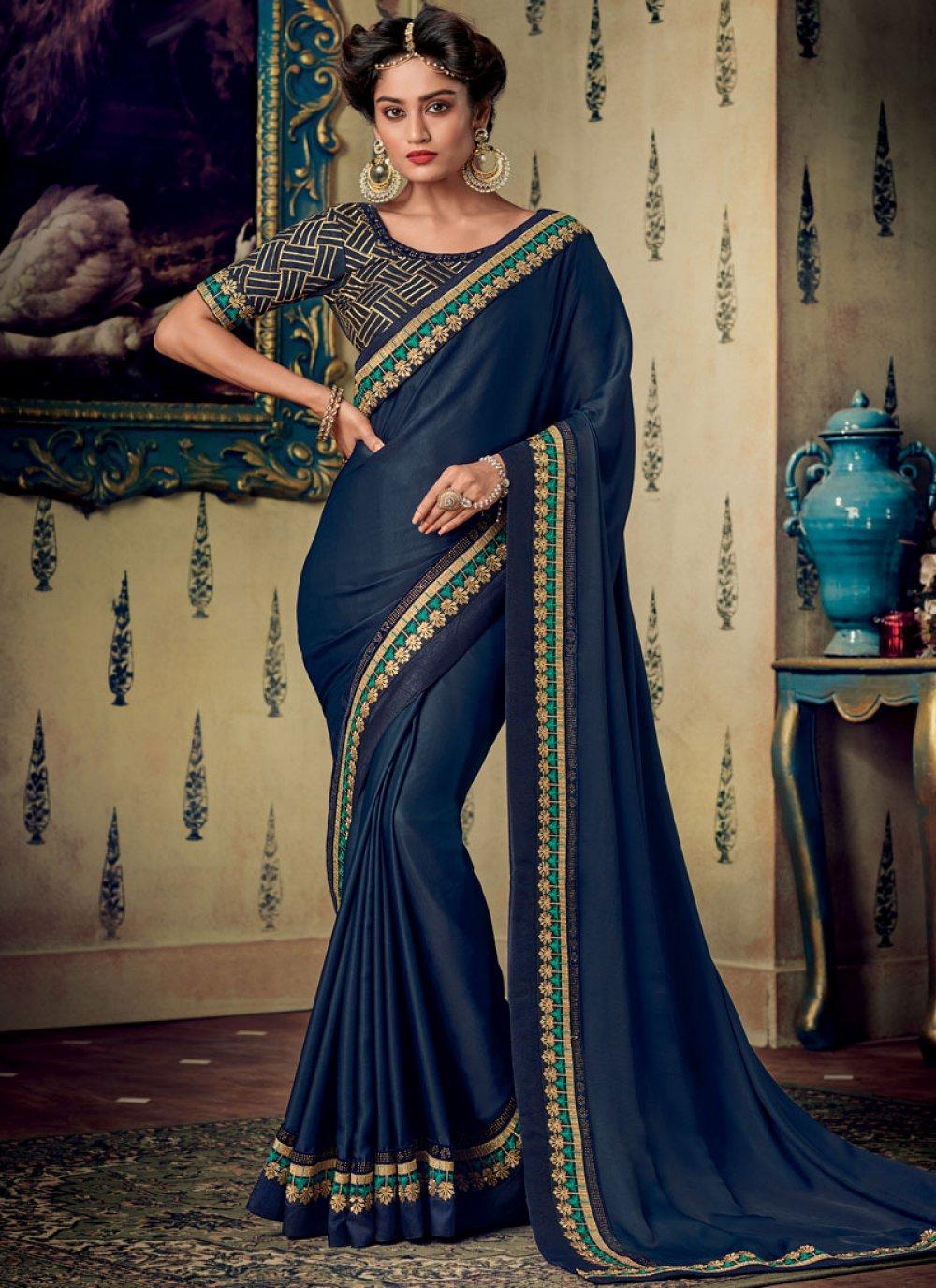 Fancy Fabric Designer Saree