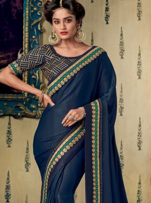 Fancy Fabric Designer Saree