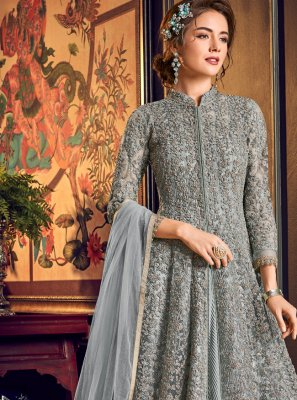 Fancy Fabric Desinger Anarkali Salwar Suit